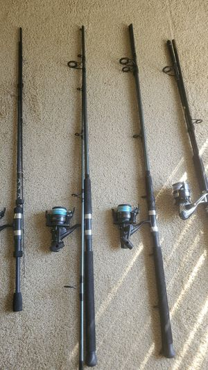 Fishing reels and rods boats for Sale in Ontario, CA