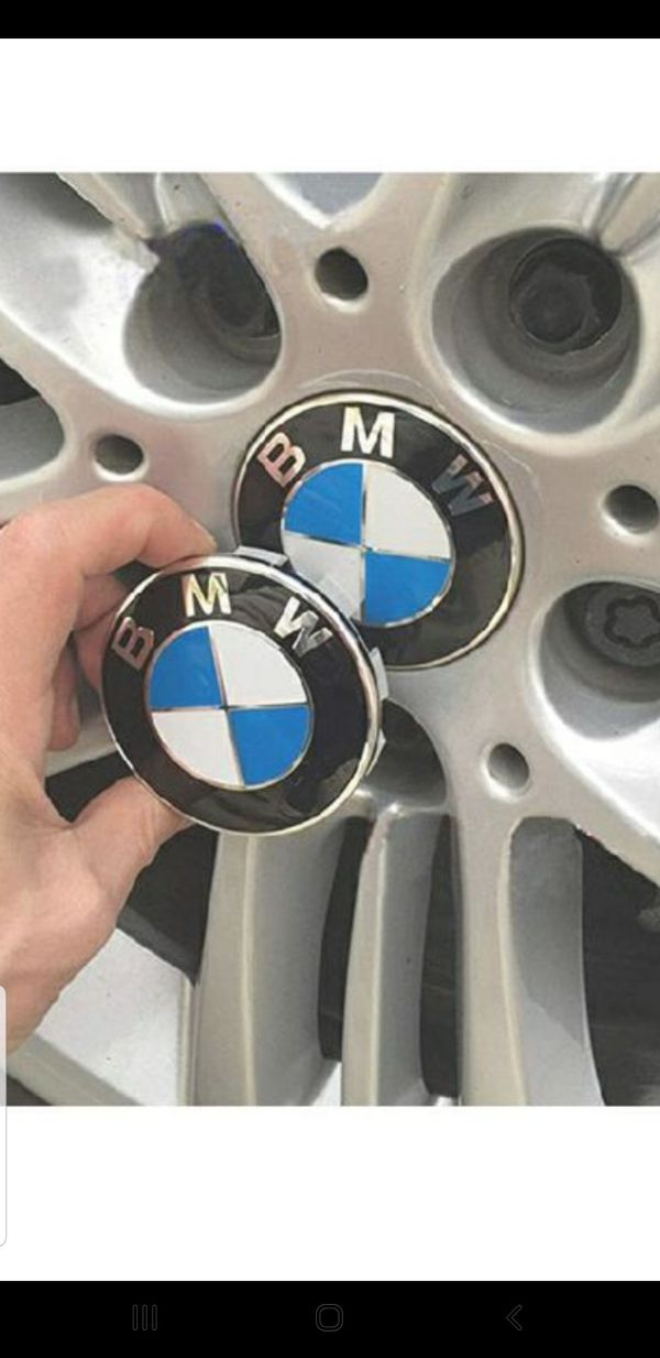 Brand New set of 4 BMW logo hub caps for rims fits all BMW rims 335i 535i 328i 528i x5 m3 m5 530i 330i