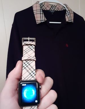 Burberry POLO London, Apple watch series 3 (42 mm) Burberry band for Sale in Tampa, FL
