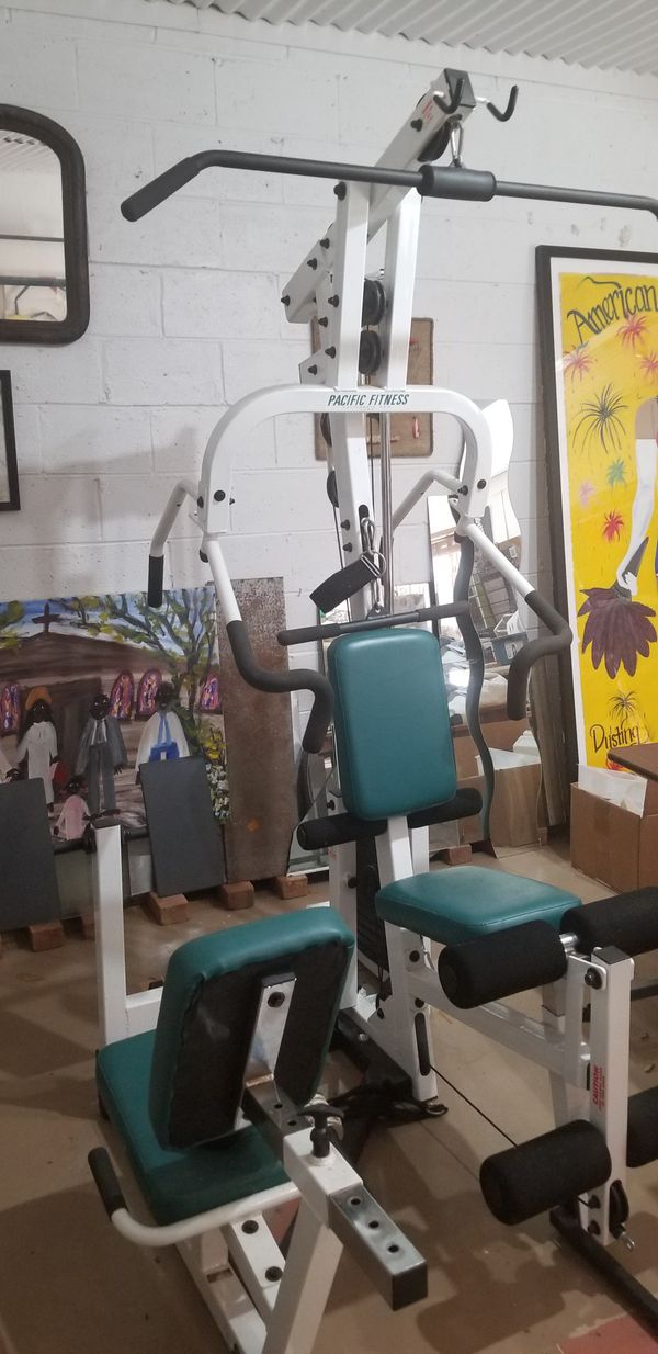 2 Peice Pacific Fitnes Home Gym