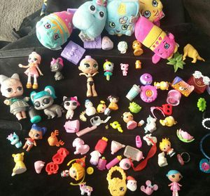 LOL Shopkins Lalaloopsie Babies Animals Accessories Grosserygang rare huge lot for Sale in Cypress, CA