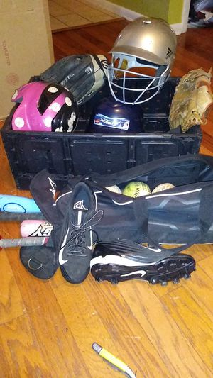 Softball bats, balls, gloves, helmets, cleats for Sale in Tampa, FL