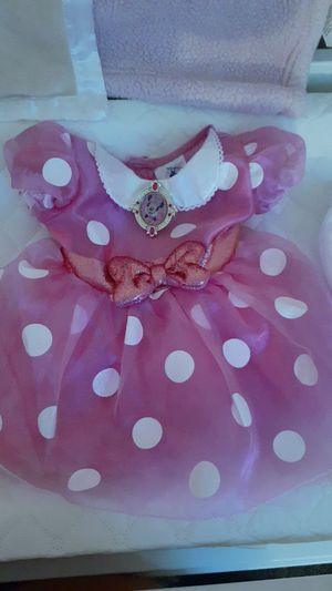 Baby girl pink minnie mouse dress with underpants for Sale in Santa Fe Springs, CA