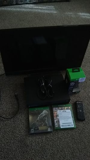 Xbox One X + TV for Sale in Mineral Wells, WV