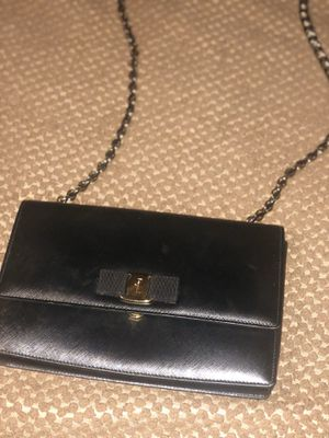 Authentic Salvatore Ferragamo black purse for Sale in Saugus, MA