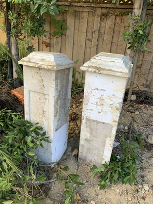 Two solid concrete columns with end caps for Sale in San Diego, CA