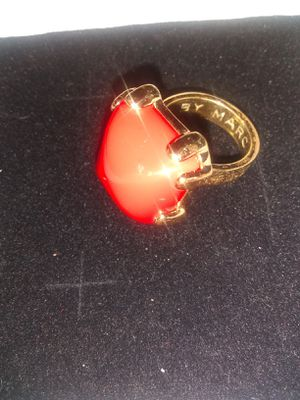 Marc Jacob with orange stone set into gold tone for Sale in Los Angeles, CA