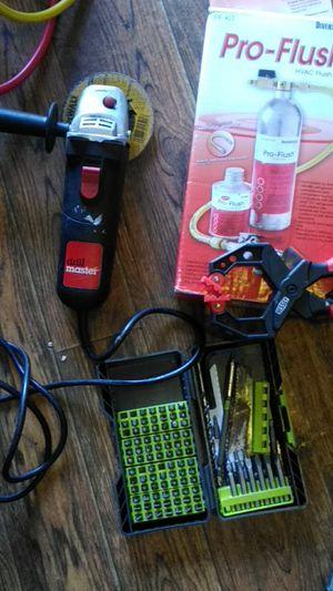 Freon Flush kit,Multiple drill bit kit ,angle grinder for Sale in Glen Raven, NC