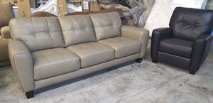 Kaleb 2pc Italian leather sofa and chair set for Sale in Decatur, GA