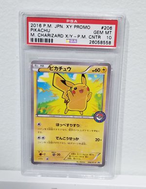 2016 XY Pikachu Promo PSA 10 Pokemon cards for Sale in Hollywood, FL
