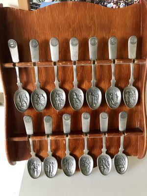 Vintage 1976 Pewter Spoons - 13 Colonies - $50 Or Best Offer for Sale in La Habra Heights, CA