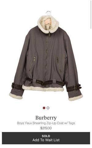 Burberry zip up coat for Sale in Miami, FL