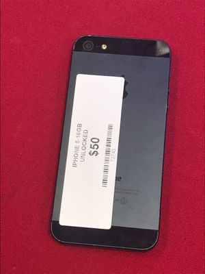 Apple iPhone 5 unlocked 16gb black for Sale in Katy, TX