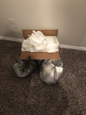 Newborn and size 1 diapers for Sale in Dallas, TX