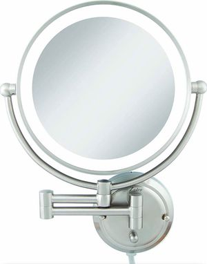 Zadro Light Dual-Sided 1x/5x Wall Mount Mirror, Satin Nickel GLAW45 for Sale in Indianapolis, IN