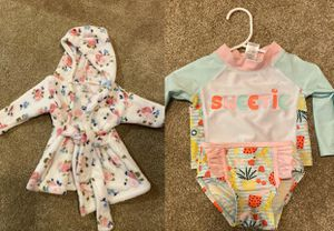 3-6 girl swimsuit and robe for Sale in Sherwood, OR