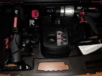 Craftsman New 19.2 Volt Cordless Drill-Driver & Right Angle Drill-Driver Set for Sale in Aurora,  OR