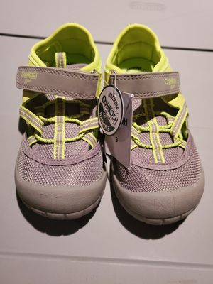 Lime green and gray Oshkosh shoes size 9c for Sale in Renton, WA