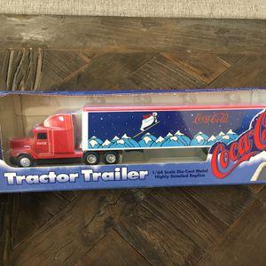 1995 Coca-Cola Die cast Metal Toy Tractor Trailer Semi Truck for Sale in Chandler, AZ