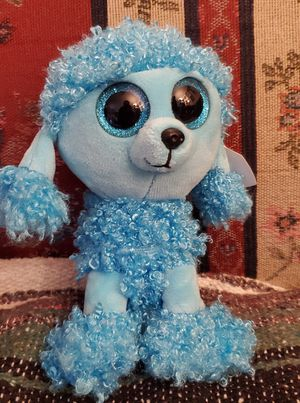 """TY """"MANDY"""" BLUE POODLE BEANIE BABY PLUSH TOY 6"""" INCHES PRE-OWNED for Sale in Lynwood, CA"""