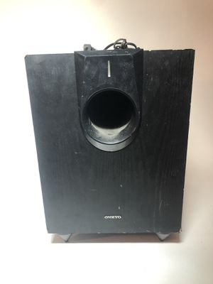 Onkyo powered subwoofer model no SKW-580 120volts for Sale in New Rochelle, NY