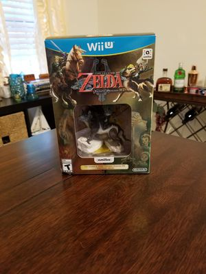 Legend of Zelda Twilight Princess HD with Wolf Link Amiibo Nintendo Switch Wii U for Sale in Cocoa, FL