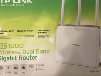 TP-Link AC1900 Wireless Dual Band Gigabit Router for Sale in Ashburn,  VA