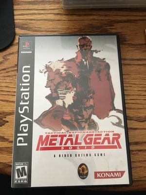 Metal Gear Solid for PlayStation for Sale in Lewis Center, OH