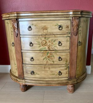 Hand Painted/Carved Accent Cabinet for Sale in Los Angeles, CA