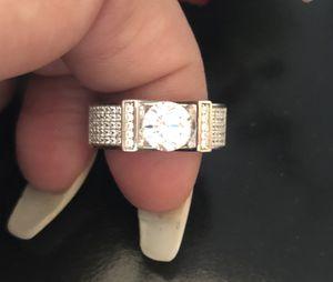 Size 6 sterling silver v shape ring Austrian stones for Sale in Denver, CO