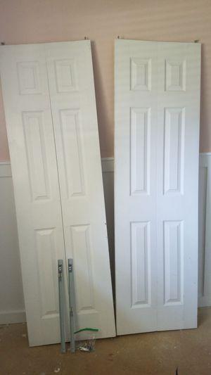 Bi fold closet doors with hardware for Sale in West Jordan, UT