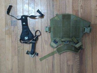 ICEFANG LARGE DOG TACTICAL HARNESS And Kurgo Tru-Fit Smart Harness with Steel Nesting Buckles Enhanced Strength, Black, for Sale in The Bronx,  NY