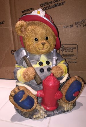 Firefighter bear/coin bank, decoration for Sale in Pinecrest, FL