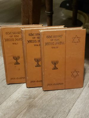 The Story of the Jewish People 1925 3 Volume Set for Sale in Norfolk, VA
