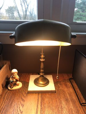 Vintage antique bankers brass desk lamp light for Sale in Brewster, NY