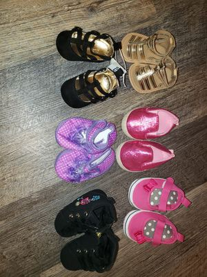 Lot of Baby Girl 0-3 Month Size Shoes/Boots for Sale in Trenton, NJ