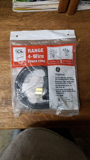 Range 4-Wire power cord for Sale in Gilmer, TX