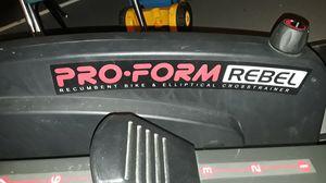 Exercise machine ProForm Rebel recumbent bike and elliptical cross crosstrainer for Sale in Columbus, OH
