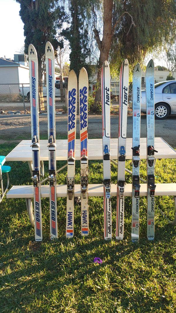Swallow,atomic,Billy kidd hart, KR hawk ski's