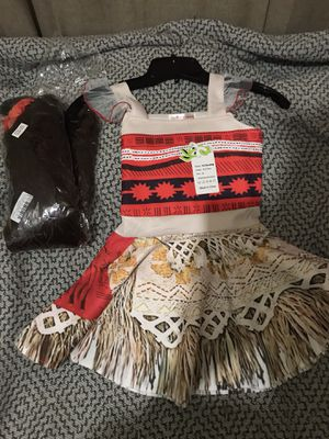 Moana brand new costume and wig $20 for Sale in Largo, FL