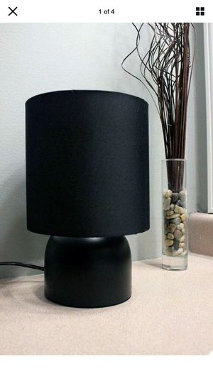 New Sunbeam Modern Table LAMP with Black Fabric Shade and Metal Base Light for Sale in Concord, NC