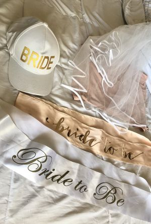 Bride /Bridal Sash , veil & hat for Sale in San Dimas, CA