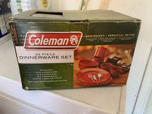 Coleman camping dinnerware set for Sale in Lake Elsinore, CA