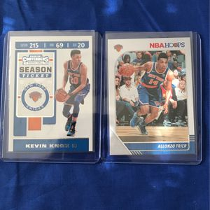 Kevin Knox Panini Contenders 2019-2020 and Allonzo Trier NBA Hoops 2019-2020 for Sale in Pinellas Park, FL
