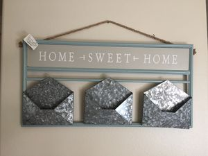 Sweet home walk decor & metal mail hanger for Sale in Woodinville, WA