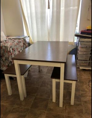 Kitchen Table and Bench Chairs for Sale in Newport Beach, CA