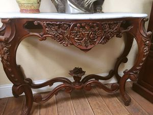 Lovely Console Table- one of a kind! If you want a special table that is not ordinary, if yes so this one is for you. It has Real marble on top and i for Sale in Union City, CA