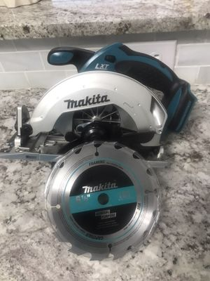 New makita circular saw (tool only).$70.Firm for Sale in Arlington, TX