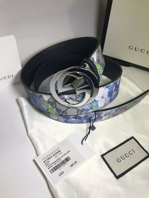 Gucci Blue Floral Blooms Belt **Will arrive before Xmas! for Sale in Queens, NY