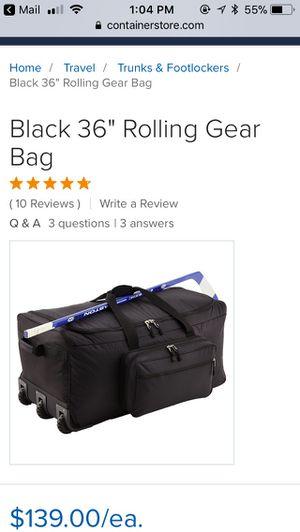 "Rolling duffle bag; 36""; black for Sale in Cedar Park, TX"